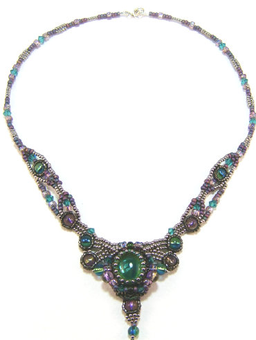 Isadora woven bead necklace